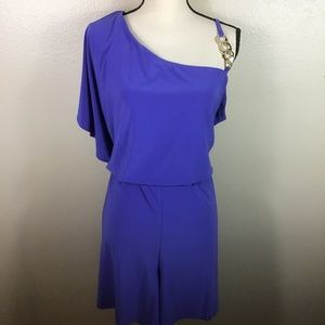 Venus Purple One Shoulder Romper